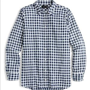 J.Crew Classic-fit boy shirt in crinkle gingham